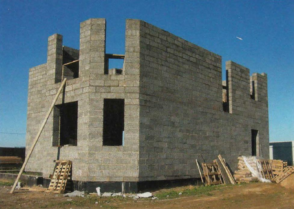 Как строить дом из арболитовых блоков своими руками 370