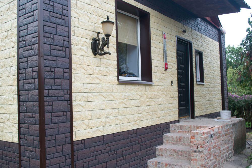 Облицовка фасада дома пластиковыми панелями под камень своими руками